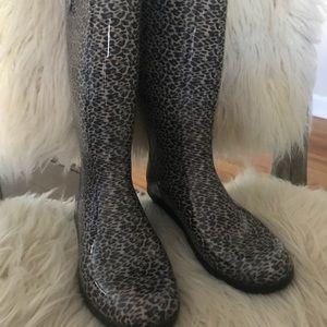 Ugg Leopard Shaye Rain Boots